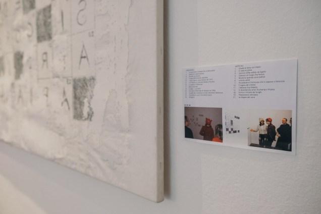 Patrizia Giambi, installazione 2018 libreria marmo
