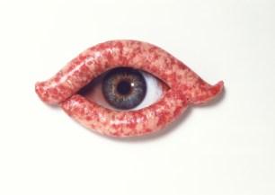 100) Anche l'occhio vuole la sua parte, 1981, fotografia a colori su alluminio, h47x67x2, Collezione Gemma De Angelis Testa