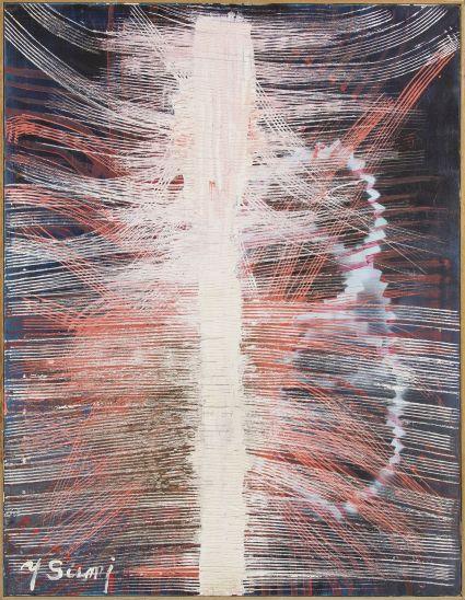 8. Yasuo Sumi,1978-1991, Senza titolo, 112x44 cm, tecnica mista