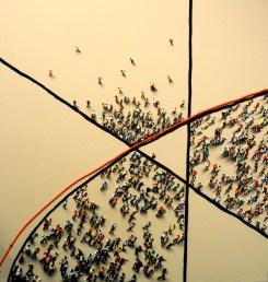 Juan Genoves, Tripartito, 2014. Marlborough Gallery, New York