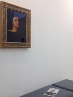 Francesco Vezzoli, Self portrait as a self portrait (after Raffaello) 2014