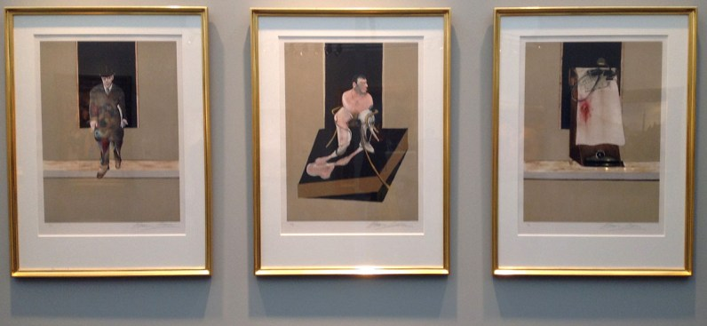 Francis Bacon tryptych 1986-87 at Marlborough Fine Arts London