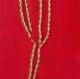 Giovanni Gaggia, particolare dell'opera Miratus sum, ricamo su lino,cm 40x40, 2011