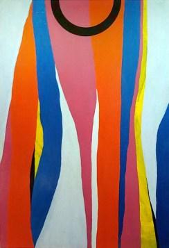 Giulio Zanet, 2015, L'adolescenza del cerchio, 130x90 cm, smalto e acrilico su tela