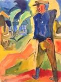 Karl Schmidt Rottluff walking farmer 1922 - W&K Gallery Vienna