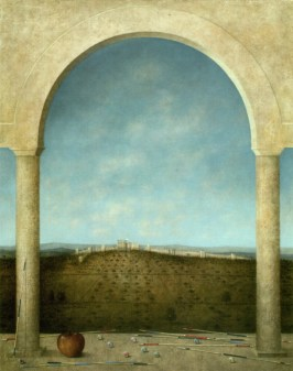 Ana Kapor, Silenziosi equilibri, 2014 - Olio su tela, cm. 50x40