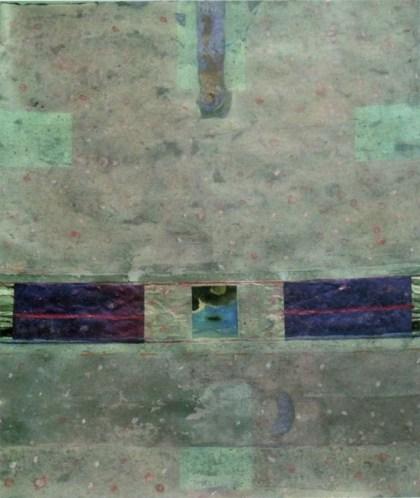 Alessandro Savelli, Racconto nel cielo 3, 2013 - Tecnica mista e collage su carta, cm. 124x107