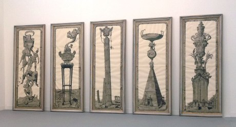 Pablo Bronstein, Five Urns 2007, galleria Franco Noero
