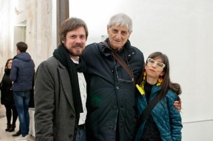 Giacomo Zaza, Gianfranco Baruchello, Regina Galindo, Novoli, 2016, ph. Annamaria La Mastra