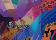 Ranieri Wanderlingh, Danze africane, 2012, olio su tela, 120x180 cm