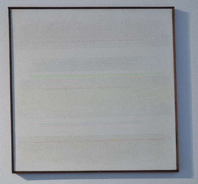 Riccardo Guarneri Strisce colori con linee 1975 50x50cm