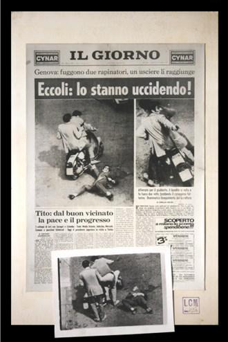 Tullio Brunone_ECCOLI LO STANNO UCCIDENDO_fotografia&giornale_1976_ed 50:70