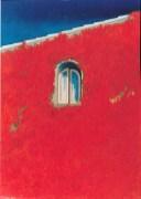 finestra con edera rossa