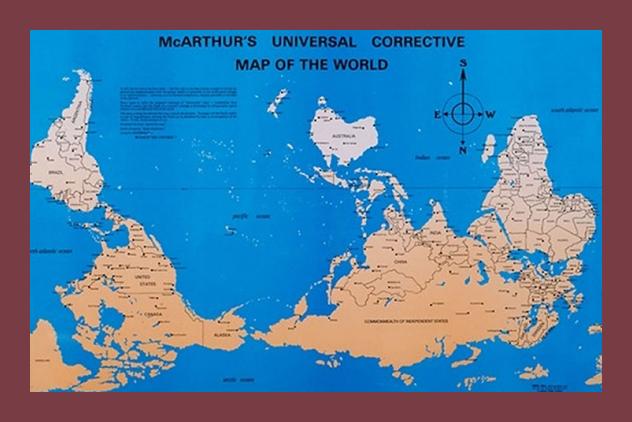 Cartina Nord Mondo.Raddrizzare Il Mondo Rivista Studio