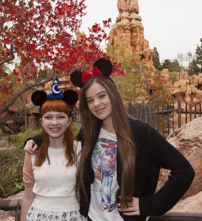 Hailee Steinfeld And Tavi Gevinson Ride Big Thunder Mountain Railroad At Disneyland