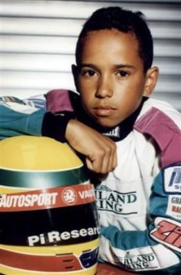 Il piccolo Lewis ai tempi dei kart