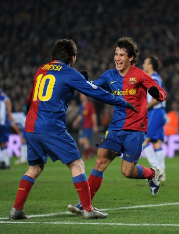 Bojan e Messi. Jasper Juinen/Getty Images