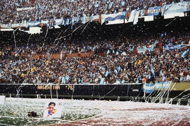 Tifosi dell'Argentina durante la finale dei Mondiali 1978. Staff/AFP/Getty Images