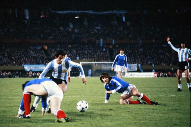 Un momento di Argentina-Francia, 6 giugno 1978. AFP/Getty Images
