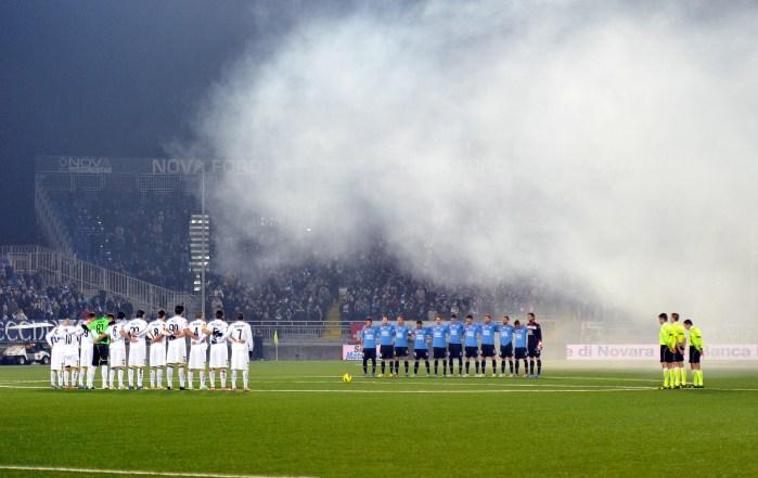 Prima di Novara-Parma, vinta dai piemontesi con i gol di Rubino e Rigoni (Claudio Villa/Getty Images)