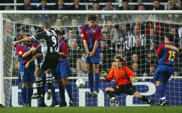 2003, contro il Barça in Champions (Laurence Griffiths/Getty Images)