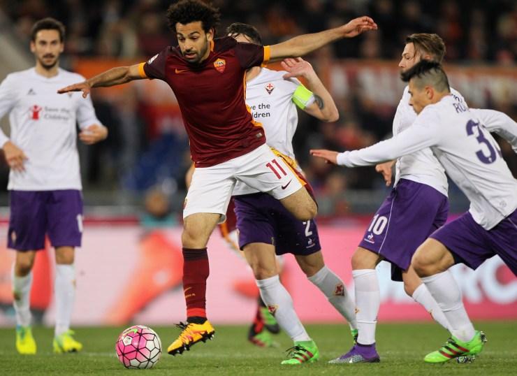 Salah, da avversario, in Roma-Fiorentina (Paolo Bruno/Getty Images)