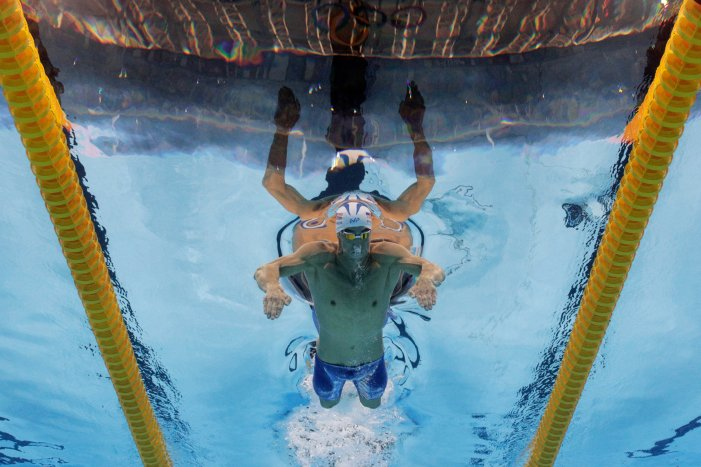 RIO DE JANEIRO, BRAZIL - AUGUST 08: Michael Phelps of the United States competes in the Men's 200m Butterfly heat on Day 3 of the Rio 2016 Olympic Games at the Olympic Aquatics Stadium on August 8, 2016 in Rio de Janeiro, Brazil. (Photo by Adam Pretty/Getty Images)