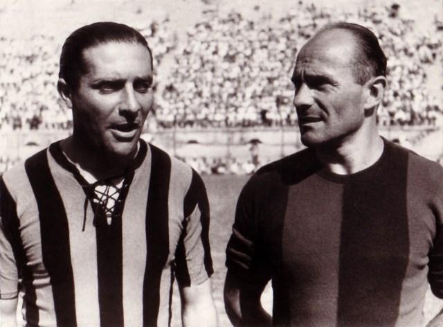 1946 - I capitani Peppino Meazza e Amedeo Biavati