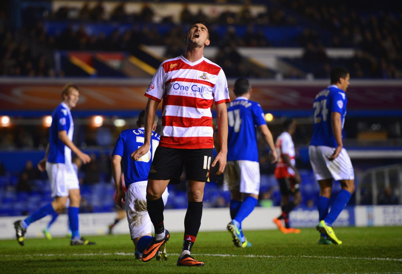 BIRMINGHAM, ENGLAND - DECEMBER 03: of Birmingham City during the Sky Bet Championship match between Birmingham City and Doncaster Rovers at St Andrews Stadium on December 03, 2013 in Birmingham, England, (Photo by Michael Regan/Getty Images)