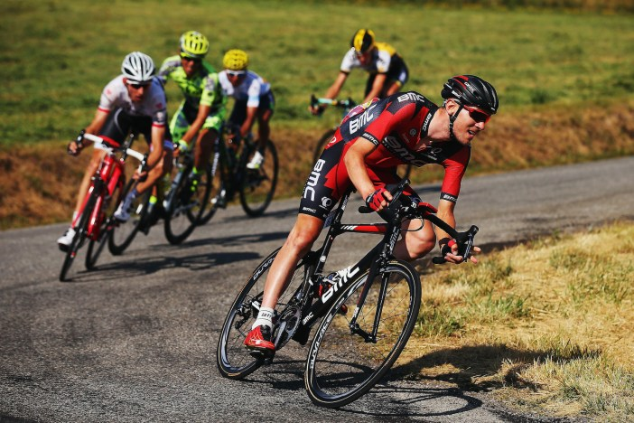 BOURG DE PEAGE, FRANCE - JULY 20: Tejay van Garderen of the United States and BMC Racing Team leads a pack of riders during the sixteenth stage of the 2015 Tour de France, a 201km stage between Bourg de Peage and Gap, on July 20, 2015 in Bourg de Peage, France. (Photo by Bryn Lennon/Getty Images)