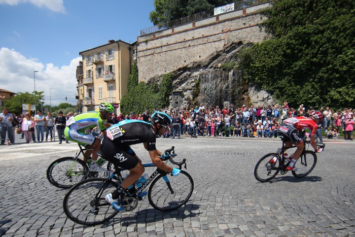 AGLIE, ITALY - MAY 24: Dario Cataldo of Italy and Team SKY in action during the fourteenth stage of the 2014 Giro d'Italia, a 164km high mountain stage between Aglie and Oropa on May 24, 2014 in Aglie, Italy. (Photo by Bryn Lennon - Velo/Getty Images)