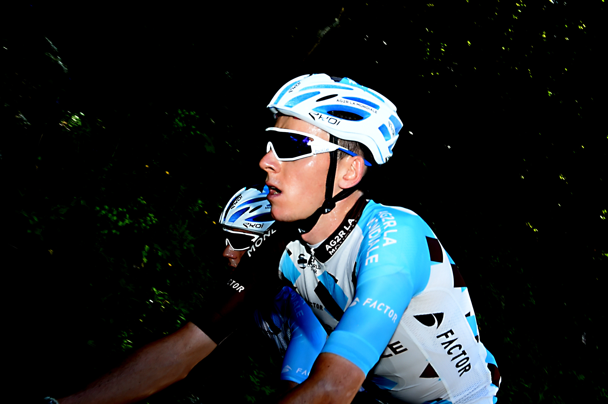 France's Romain Bardet practices on the road of this year's Tour de France 9th stage, on June 2, 2017 near Chambery. / AFP PHOTO / JEAN-PIERRE CLATOT (Photo credit should read JEAN-PIERRE CLATOT/AFP/Getty Images)
