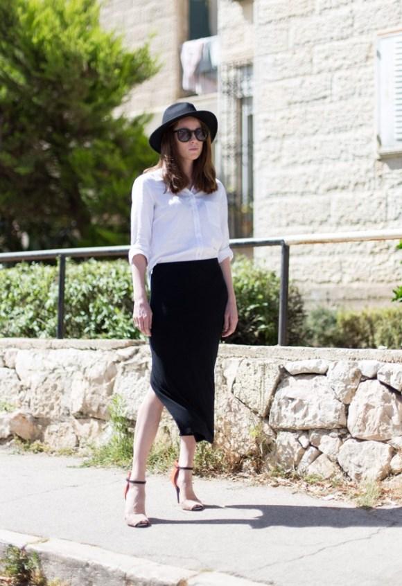 Black slit skirt_00001