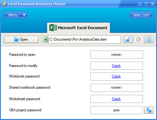 Excel Password Recovery Master. FREE Download MS Excel password ...