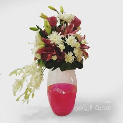 مزهرية ورد حجم وسط
