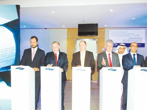 Consuls general of Schengen countries launch the new visa center in Jeddah.