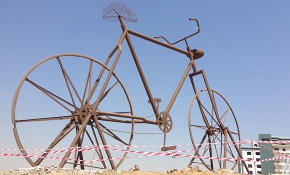 Jeddah's iconic giant bicycle. (AN Photo)