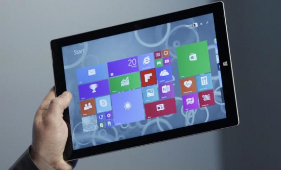 Panos Panay, Microsoft's vice president for surface computing, introduces the Surface Pro 3 tablet device at a media preview in New York. (AP)