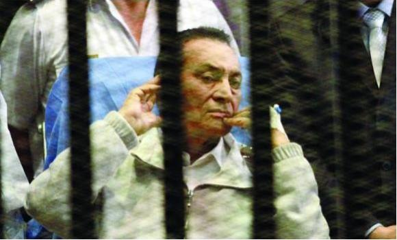 A 2013 file photo of ousted Egyptian strongman Hosni Mubarak in prison. (AFP)