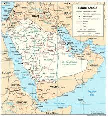 Map of the Kingdom of Saudi Arabia RiyadhVision