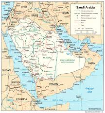 Map Of Saudia Arabia