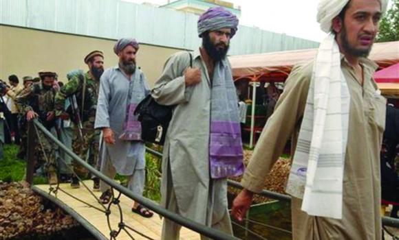 Detainees being repatriated from a small US military prison in Afghanistan.