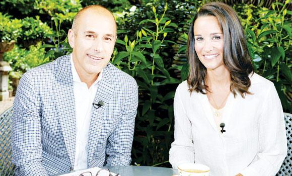 "Matt Lauer, co-host of the ""Today"" show with Pippa Middleton in London."