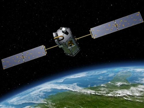 This artist's rendering obtained from NASA/JPL-Caltech shows NASA's Orbiting Carbon Observatory (OCO)-2, one of five new NASA Earth science missions set to launch in 2014