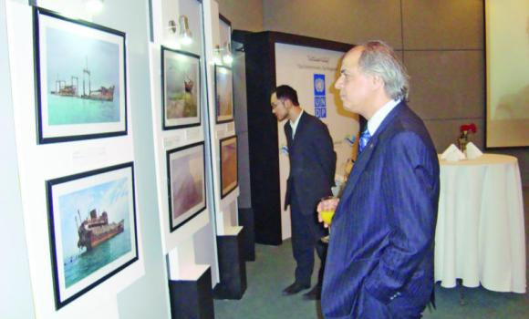 Diplomats from Turkey and Japan are taking a look at the exhibits.