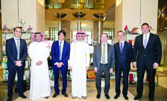 Prince Alwaleed bin Talal with Caisse des Dépôts Group members and KHC management.
