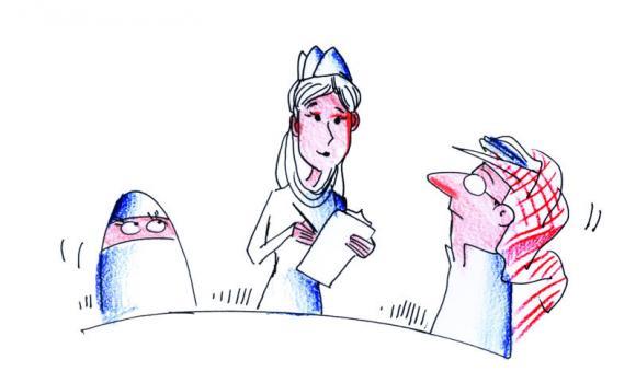 Saudi Waitress
