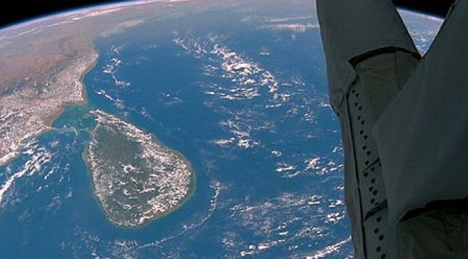 Sri Lanka seen from space