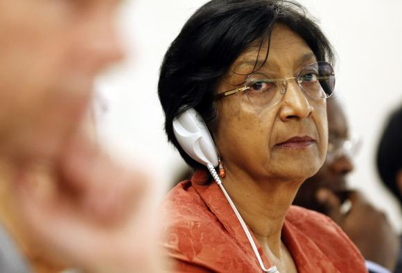 U.N. High Commissioner for Human Rights Navi Pillay looks on after her address to the 26th session of the Human Rights Council at the United Nations in Geneva