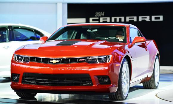 This March 27, 2013 file photo shows the Chevrolet Camaro at the New York International Auto Show in New York.